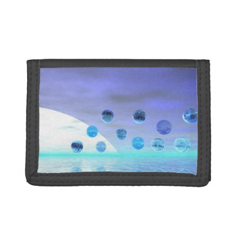 Moonlight Wonder, Abstract Journey to the Unknown Trifold Wallet