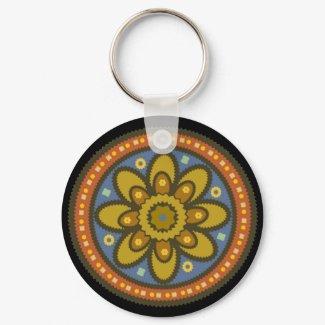 Moroccan Flower Keychain keychain