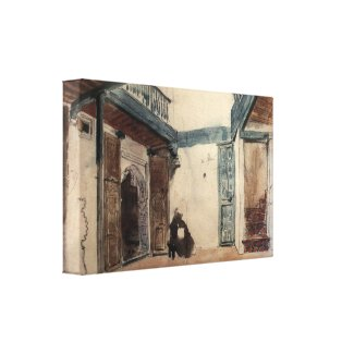 Moroccan Sketchbook #1 by Eugène Delacroix Gallery Wrapped Canvas