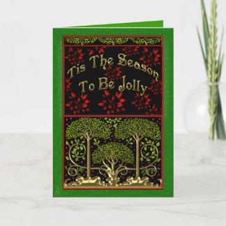 Morris-y (Christmas Card) card