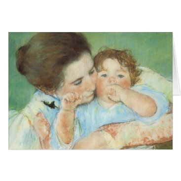 Mother and Child by Mary Cassatt, Vintage Fine Art Card