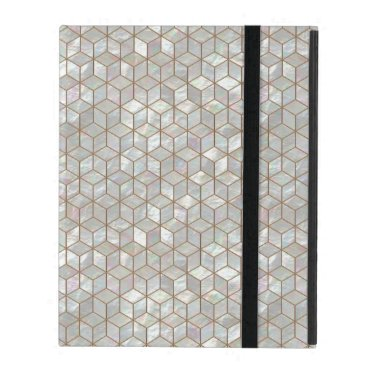 Mother Of Pearl Tiles iPad Case