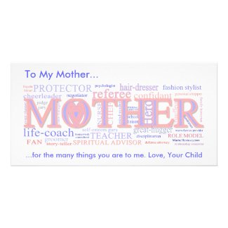 MOTHER: The many roles of a mother - Photo Card
