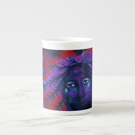 Mother Watching All – Crimson & Violet Compassion Tea Cup