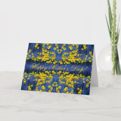 Mother's Day Daffodil Spring Fantasy Greeting Cards