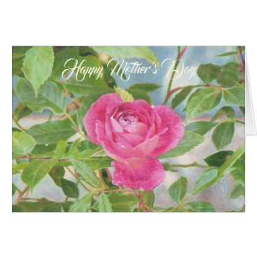 Mother's Day Pink Rose Card