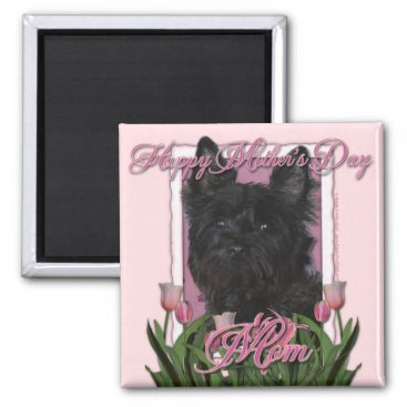 Mothers Day - Pink Tulips - Cairn Terrier - Rosco Magnet