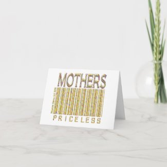 Mothers Priceless zazzle_card