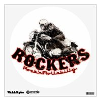 Motorcycle Cafe racer Wall Graphics | Zazzle