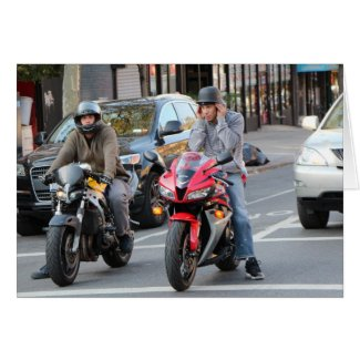 Motorcycles on the streets of Brooklyn