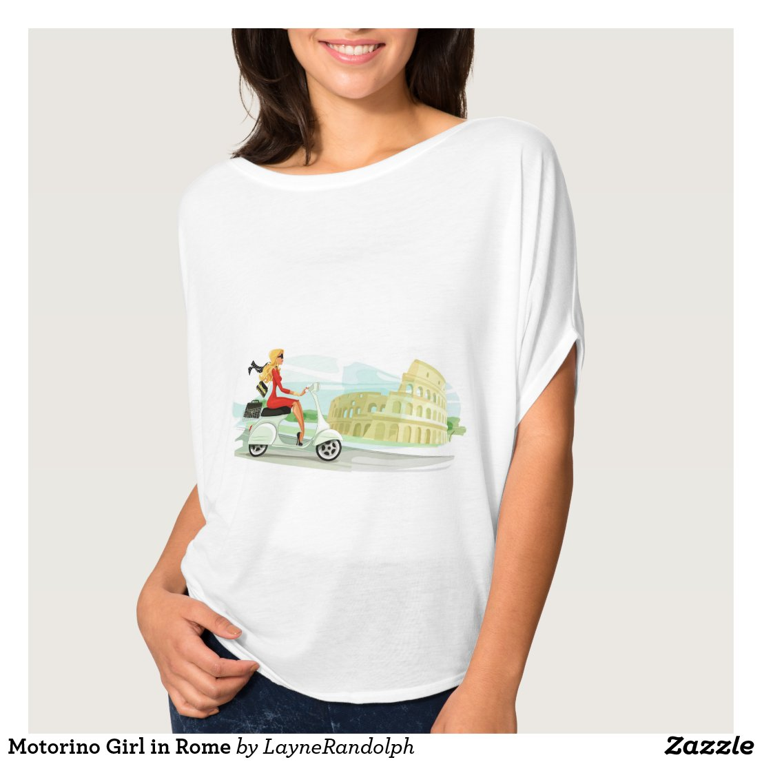 Motorino Girl in Rome T-Shirt