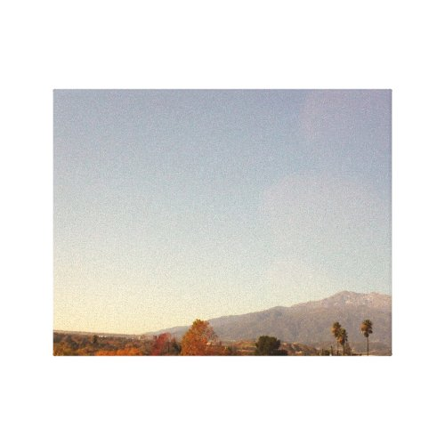 Mount Baldy And The Palm Trees wrappedcanvas
