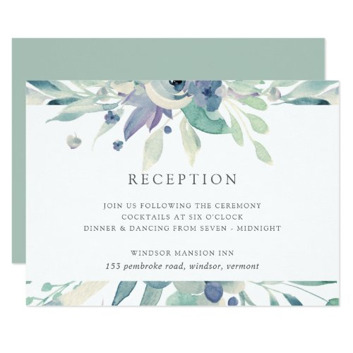 Mountain Meadow Watercolor Floral Reception Card