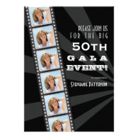 Movie Premiere Celebrity 50th Birthday Photo Gala Invites