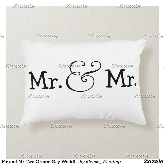 Mr and Mr Two Groom Gay Wedding Gift