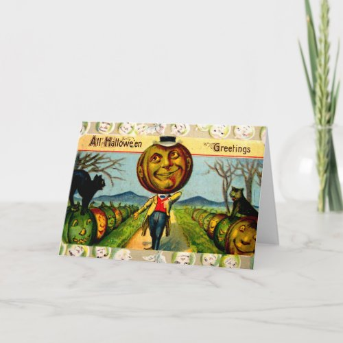 Mr. Pumpkin(Vintage Halloween Card) Card