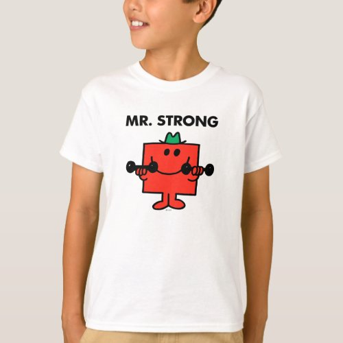 Mr. Strong   Lifting Weights T-Shirt