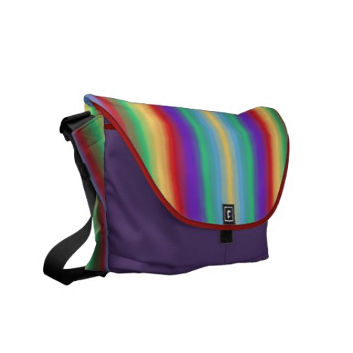 Multi Color Stripes Messenger Bag