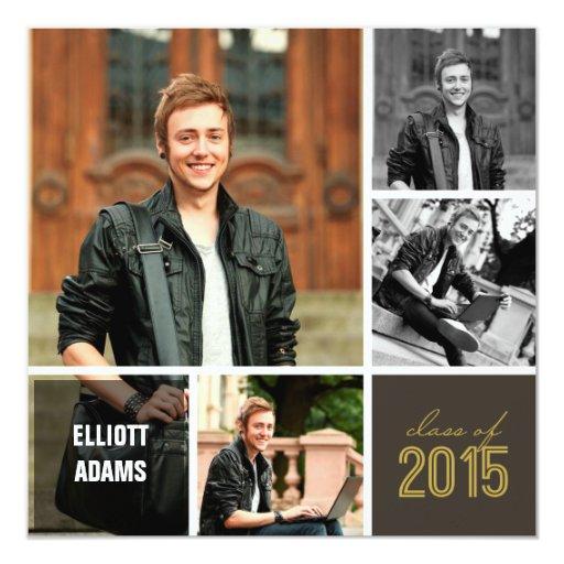 Free Photoshop Template Graduation Invitation 3 Quarters Today – Graduation Invitations 2015