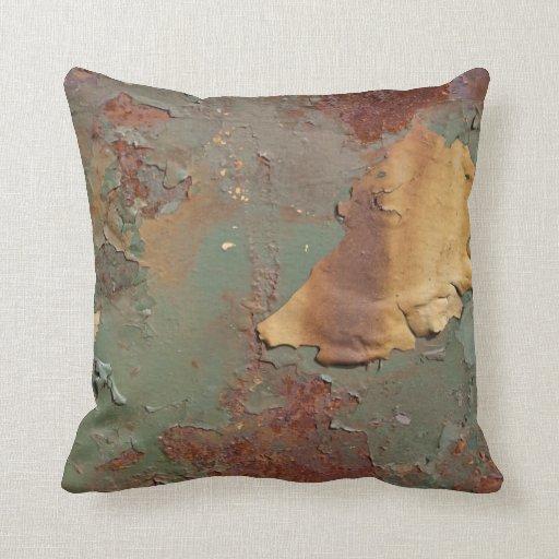 Multicolored Rust Corrosion Throw Pillow  Zazzle