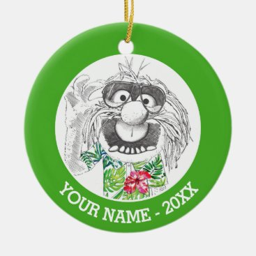Muppets | Animal In A Hawaiian Shirt Add Your Name Ceramic Ornament