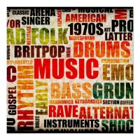 Music Background With Different Genres and Types Poster ...