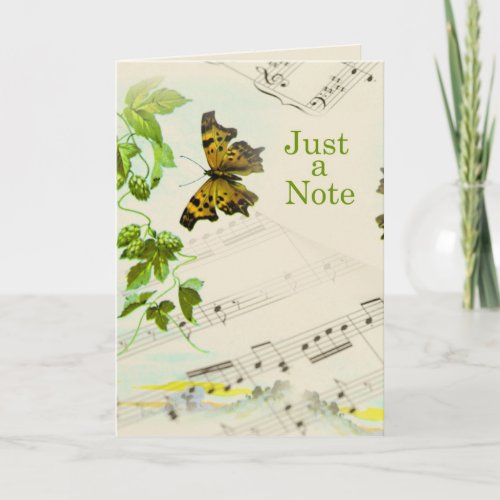 Music Butterfly Hello Card