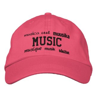 Music - Embroidered Hat