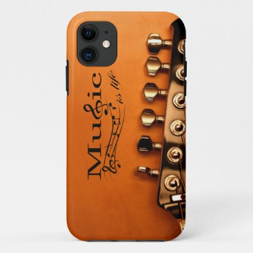 Music is Life with Guitar Machine Head iPhone 11 Case