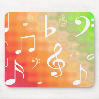 Music notes mousepads