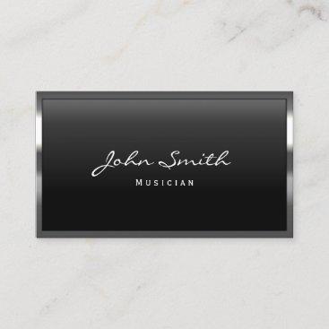 Music Teacher Modern Metal Framed Business Card