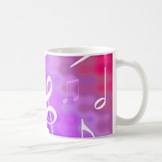 Musical notes coffee mugs