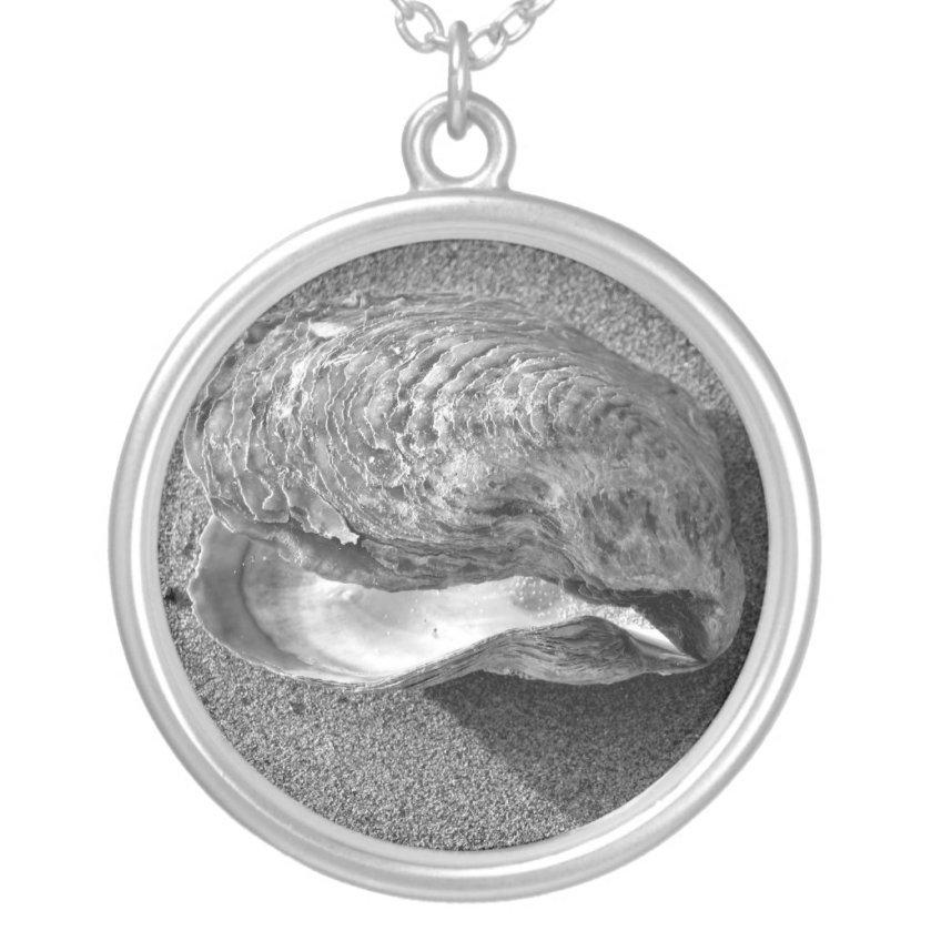 Mussel Seashell Beach Silver Necklace Pendant