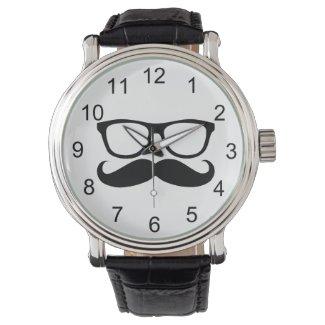 Mustache Nerd Wrist Watch
