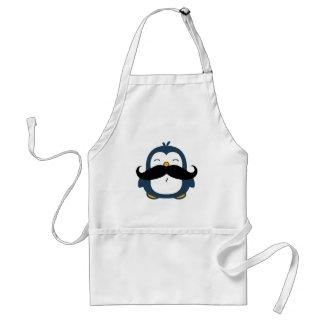 Mustache Penguin Apron