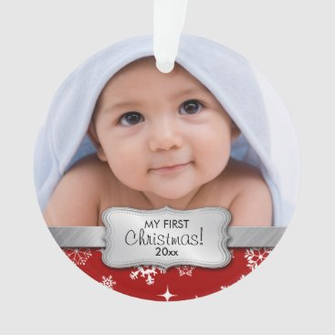 My 1st Christmas - Add your photo Ornament