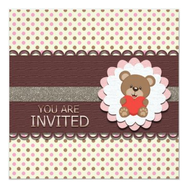 My Beary First Birthday Invitation