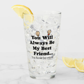 My Best Friend Glass