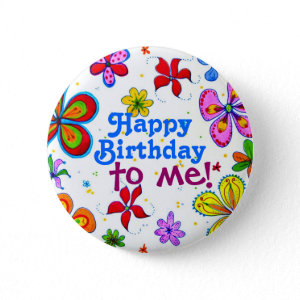 My Birthday Pin/Button button