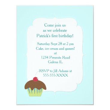 My First Birthday Boy Custom Personalized Party Invitation