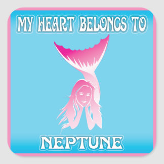 My Heart Belongs To Neptune Stickers