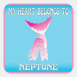 My Heart Belongs To Neptune Stickers
