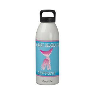 My Heart Belongs To Neptune Water Bottle