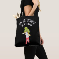My Patronus is a Llama. Funny, Nerdy Saying. Tote Bag