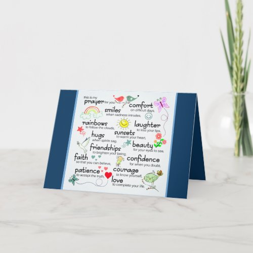 My Prayer For You Add Photo Personalized Card