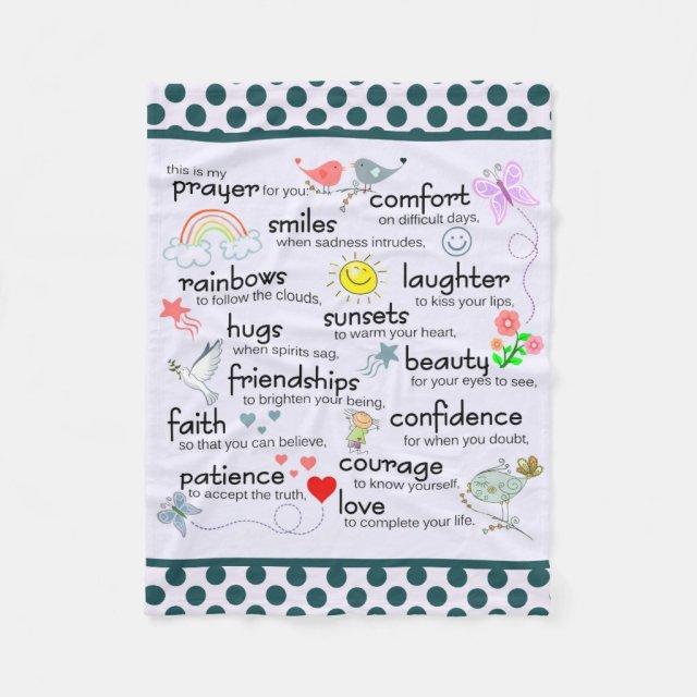 My Prayer For You Fleece Blanket