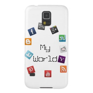 My World of social networks Galaxy S5 Cases