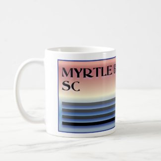 Myrtle Beach SC Palm Tree Coffee Mug