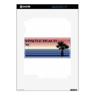 Myrtle Beach SC Palm Tree Decal For iPad 2