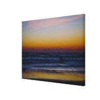 Mystic Morning Dawn At the Beach Gallery Wrapped Canvas
